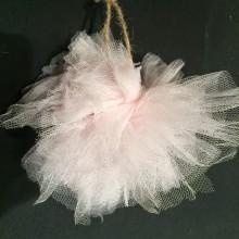 Στολίδια από τούλι- Pon pon tulle ornaments