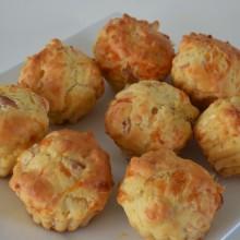 Αλμυρά Μάφιν με Μοτσαρέλλα & Γαλοπούλα Φουαντρέ- Salty Muffins with Mozarella & Smocked Turkey