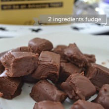Fudge Πραλίνας με 2 υλικά –  2 ingredients Hazelnut Fudge