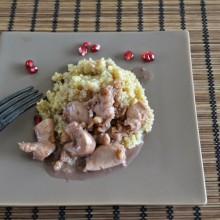 Food Challenge: Κοτόπουλο με γλυκόξυνη σάλτσα ροδιού & κινόα – Chicken fillets with Pomegranate Sauce & Quinoa