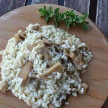 Ριζότο με μανιτάρια πλευρώτους – Oyster Mushroom Risotto