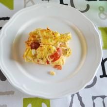 Ομελέτα φούρνου με κατίκι και τομάτα