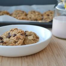 Μπισκότα χωρίς αλεύρι με κομματάκια σοκολάτας