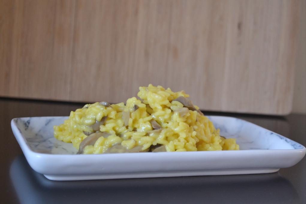 saffron mushroom risotto DSC_0185