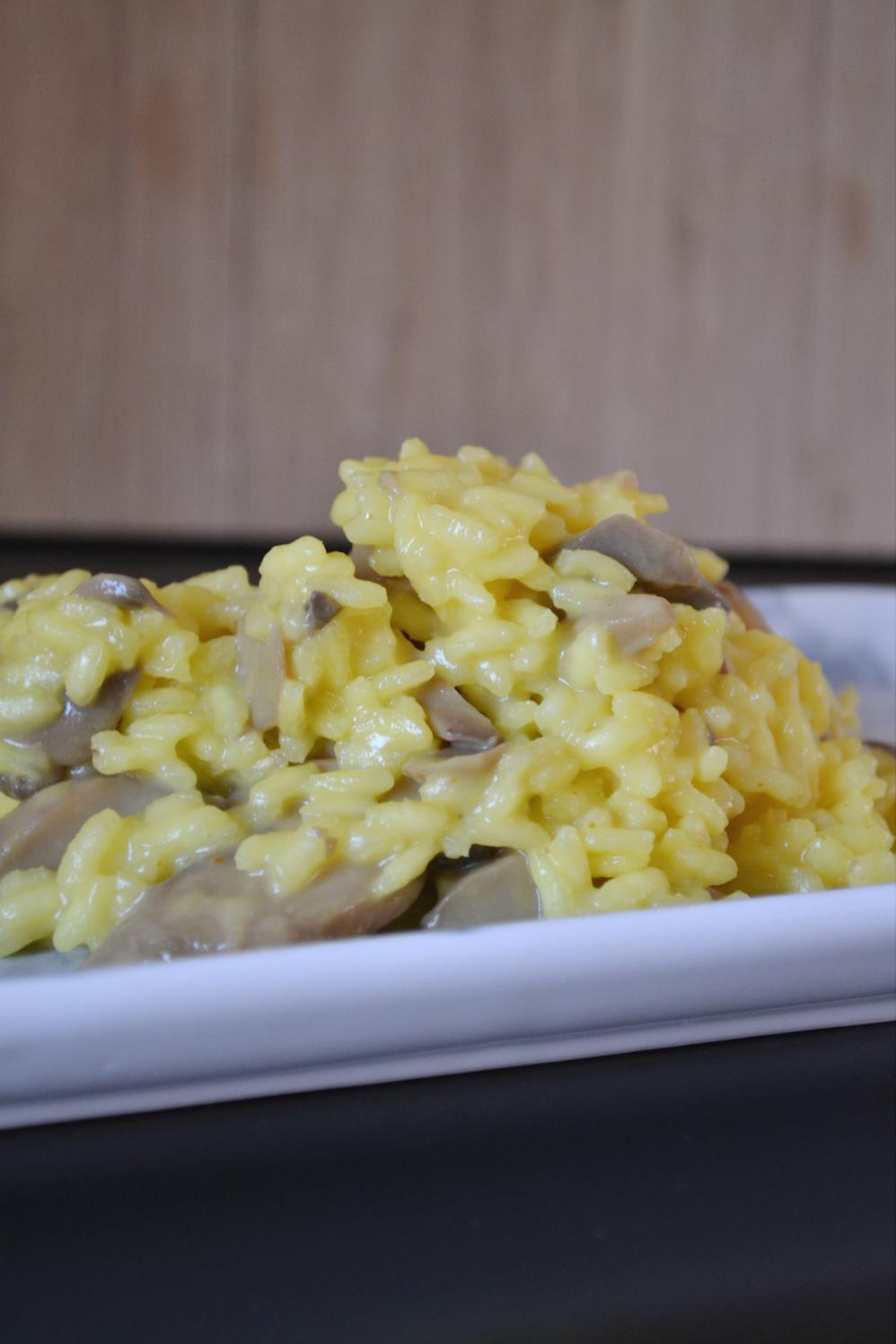saffron mushroom risotto DSC_0191