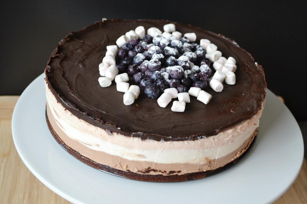triple mousse brownie cake DSC_0063