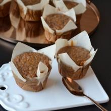 Muffins μπανάνας με ζάχαρη καρύδας