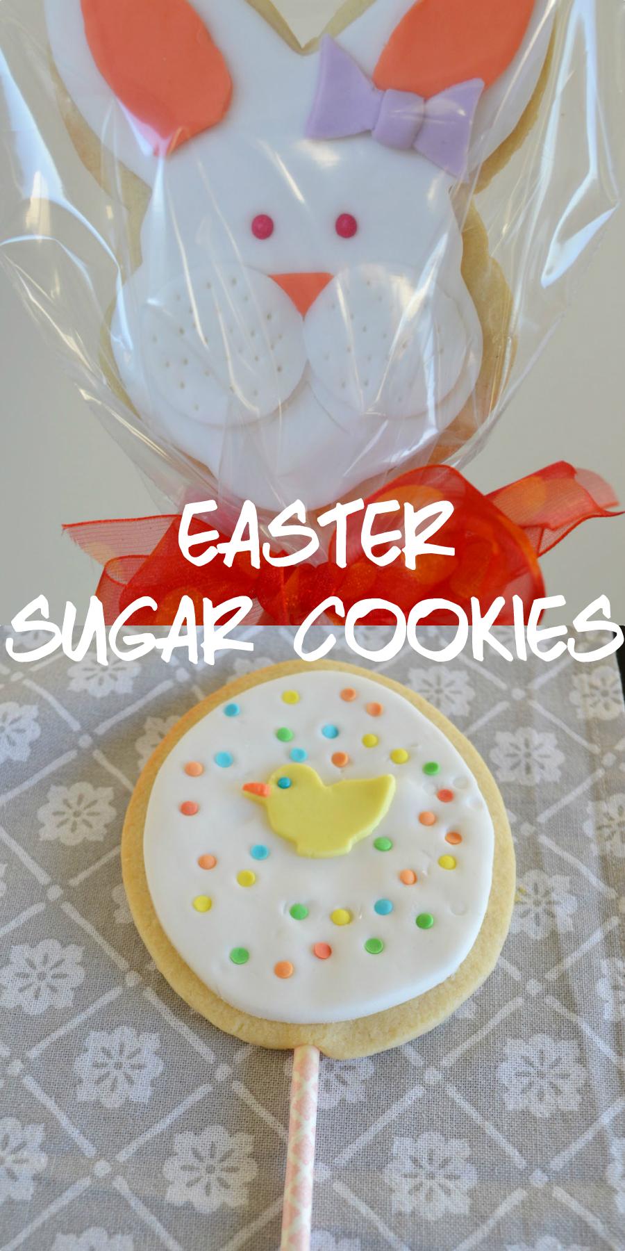 The cutest easter sugar cookies