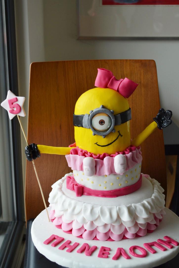 girl minion cake 2