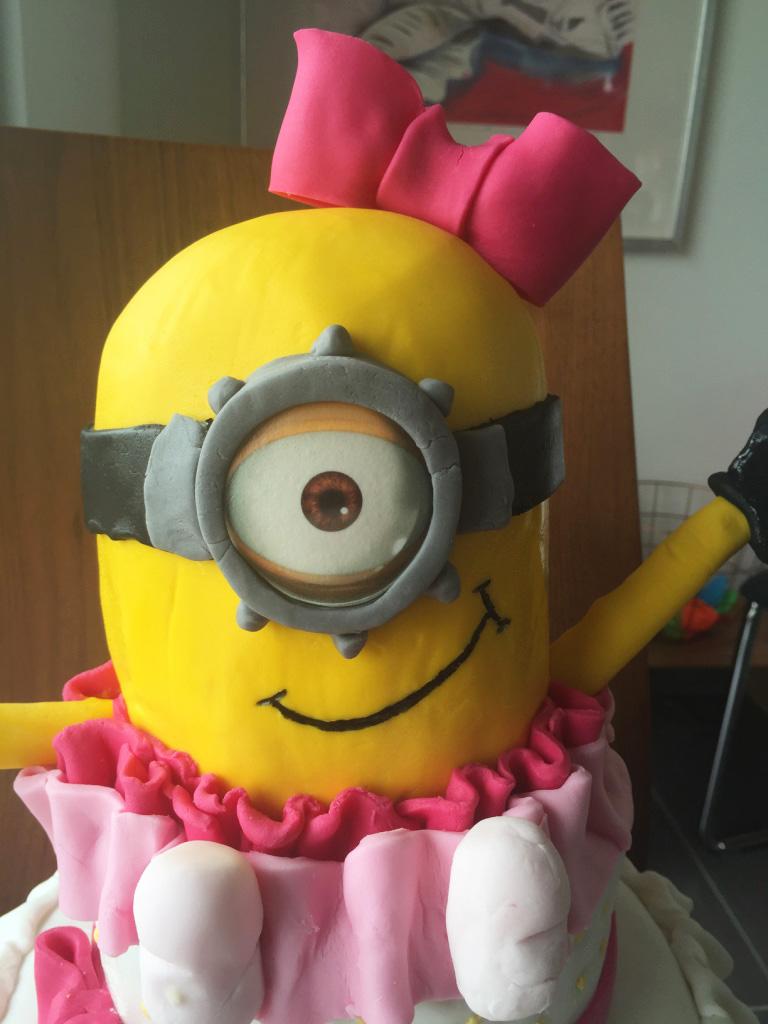 girl minion cake 3