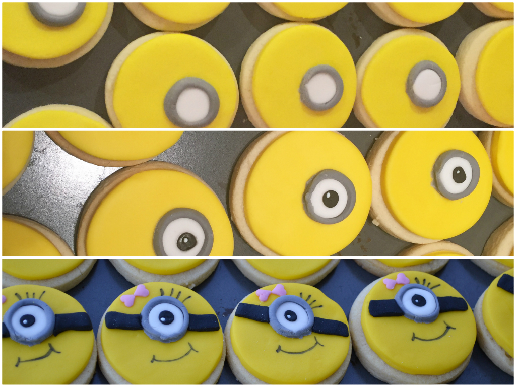 girl minion cookies Collage