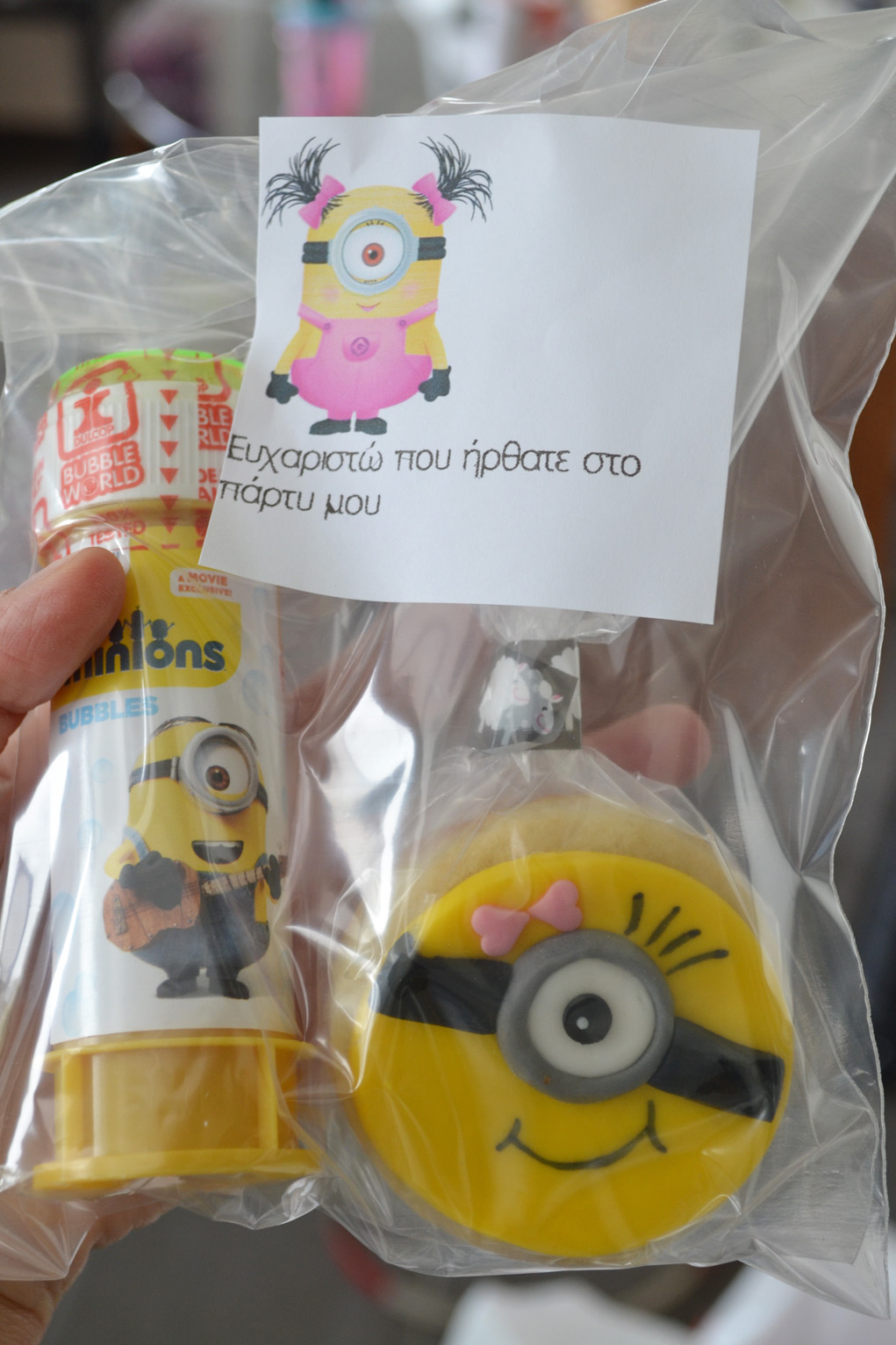 girl minion party favors bags