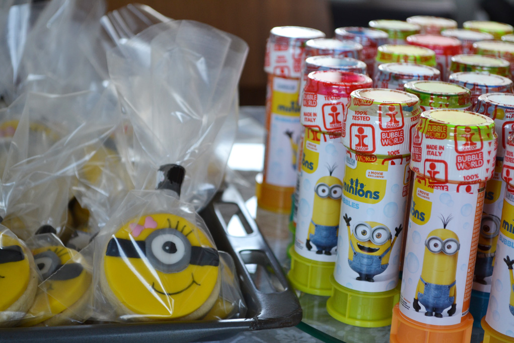 girl minion party favors