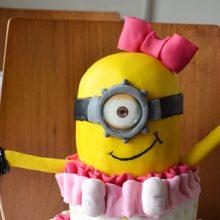 Girl Minion Birthday Cake