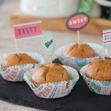 Tahini and Banana Muffins