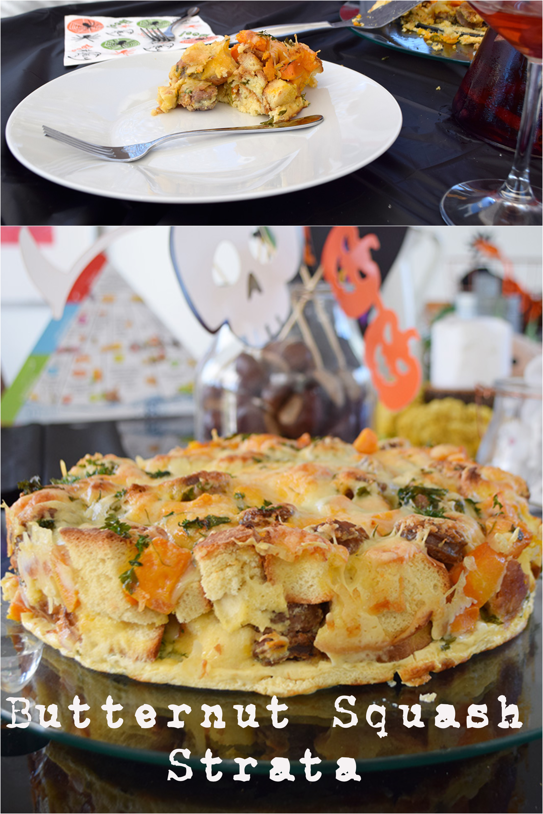 Butternut squash strata full of aroma and flavour