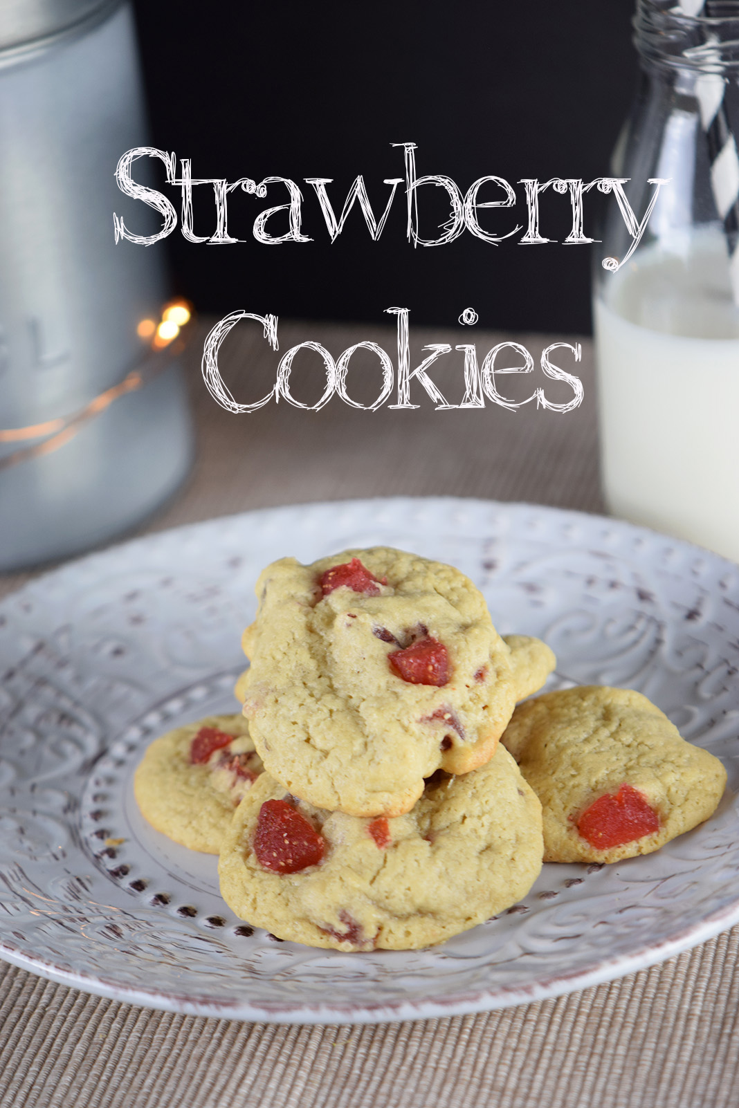 """""""Αρωματικά πεντανόστιμα μπισκότα με αποξηραμένη φράουλα"""